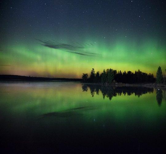 ночной вид города Мурманск
